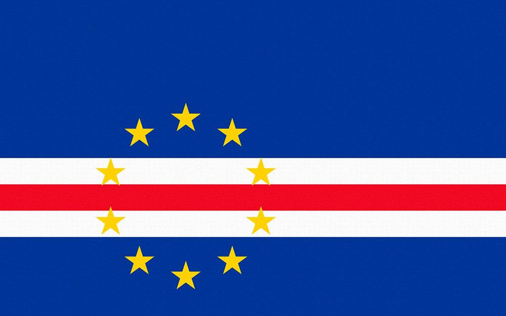 Atual bandeira de Cabo Verde, adotada após 1992