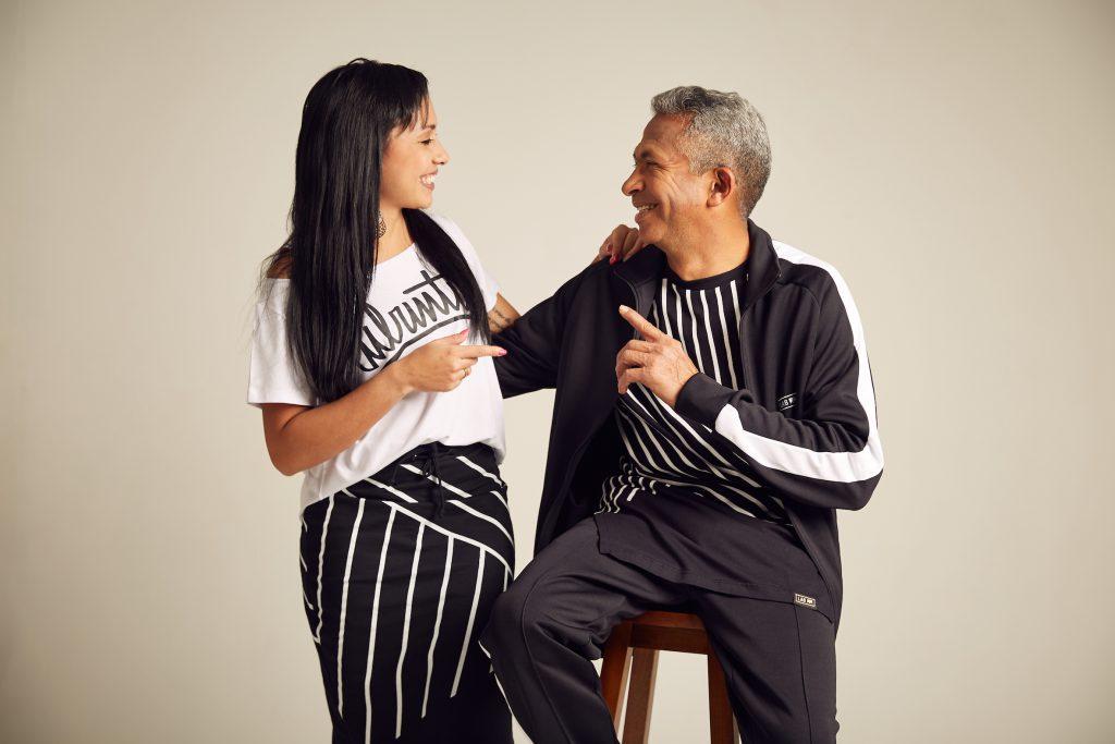 Juliana com o pai, seu Juraci (foto: Raphael PS)